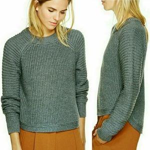 Beige Wilfred Calais merino wool sweater